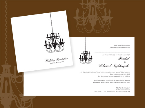 Chandelier Wedding Invitations: Introducing 'Chandelier'