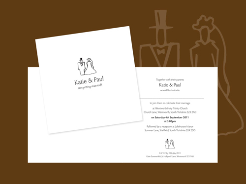 The 'Bride & Groom' Wedding Invitation