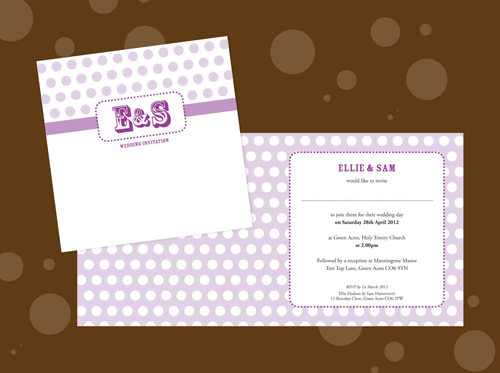Vintage Spot Wedding Stationery