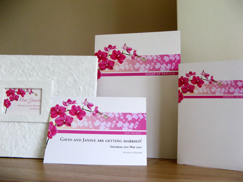 Bespoke 'orchid' stationery