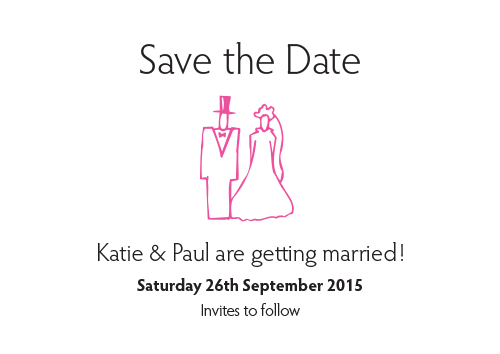 Bride & Groom 'Save the Date' Card