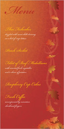 Autumn Breeze wedding stationery menu