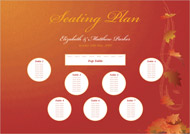 Autumn Breeze wedding stationery table plan