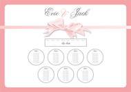 Bow wedding stationery table plan