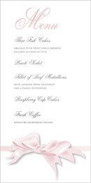 Bow wedding stationery menu