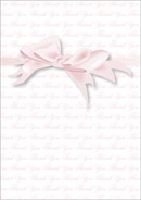 Bow wedding stationery thank you card
