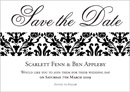 Flockamania wedding stationery save the date card