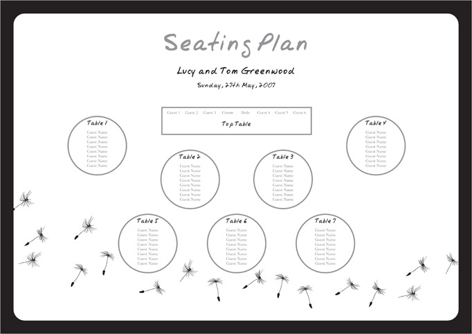 Wedding Table Seating Plan Template - Reception floor plan templates