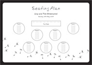 Made a Wish wedding stationery table plan