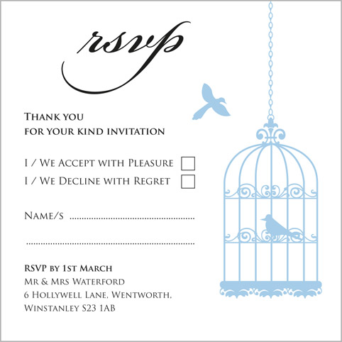 The Birdcage wedding stationery collection by Pink Polar