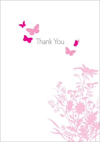 butterfly thank you cards