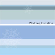Winter Stripes wedding stationery invitation