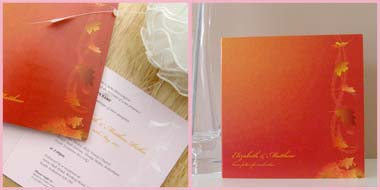 Autumn Breeze wedding stationery invitation