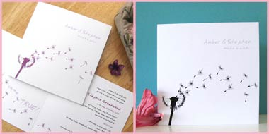 Made a Wish wedding stationery invitation