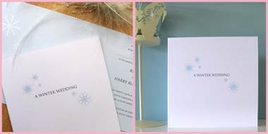 Winter Wonderland wedding stationery invitation